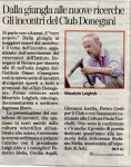 Gli incontri del Club Donegani